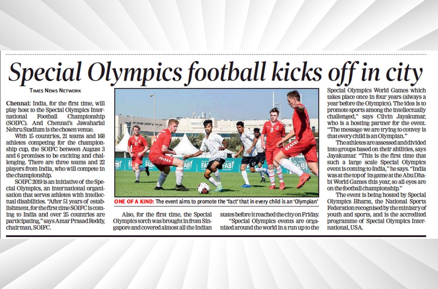 Special Olympics The New Indian Express